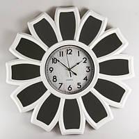 """Большие часы на стену 66х5 см """"Ромашка"""" (с зеркальными лепестками)"""