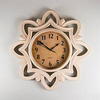 Настенные часы из пластика (имитация резных) 51х5 см.