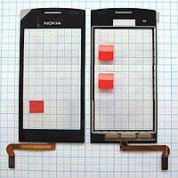 Тачскрин сенсорное стекло для Nokia 500 black
