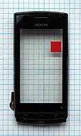 Тачскрин сенсорное стекло для Nokia 500 with frame black