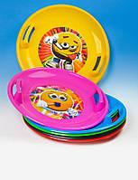 Тарелка круг санки Marmat Розовый