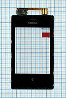 Тачскрин сенсорное стекло для Nokia 503 Asha Dual Sim black