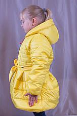 Красивое теплое пальто для девочки, р.104,110,116., фото 3