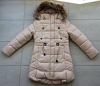 Зимняя куртка-пальто на девочку рост 140-158