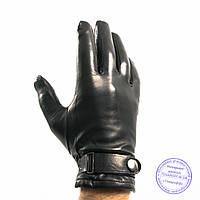 Мужские кожаные перчатки (лайка) на шерстяной подкладке - M13-2