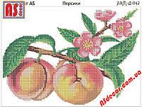 """Набор для вышивки бисером """"Персики"""" 14,8*21 см"""