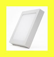Светодиодный светильник LEDEX квадрат накладной 16Вт  4000К нейтральный матовое стекло напряжение AC100-265В