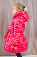 Детское теплое зимнее пальто на синтепоне для девочки., фото 3