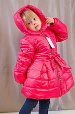 Детское теплое зимнее пальто на синтепоне для девочки., фото 2