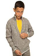 """Теплая кофта """"Джейкоб"""" для мальчика, цвет серый меланж"""