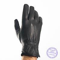 Оптом мужские кожаные перчатки из оленьей кожи с шерстяной подкладкой - №M31-1