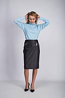 Кожаная юбка от бренда ANN