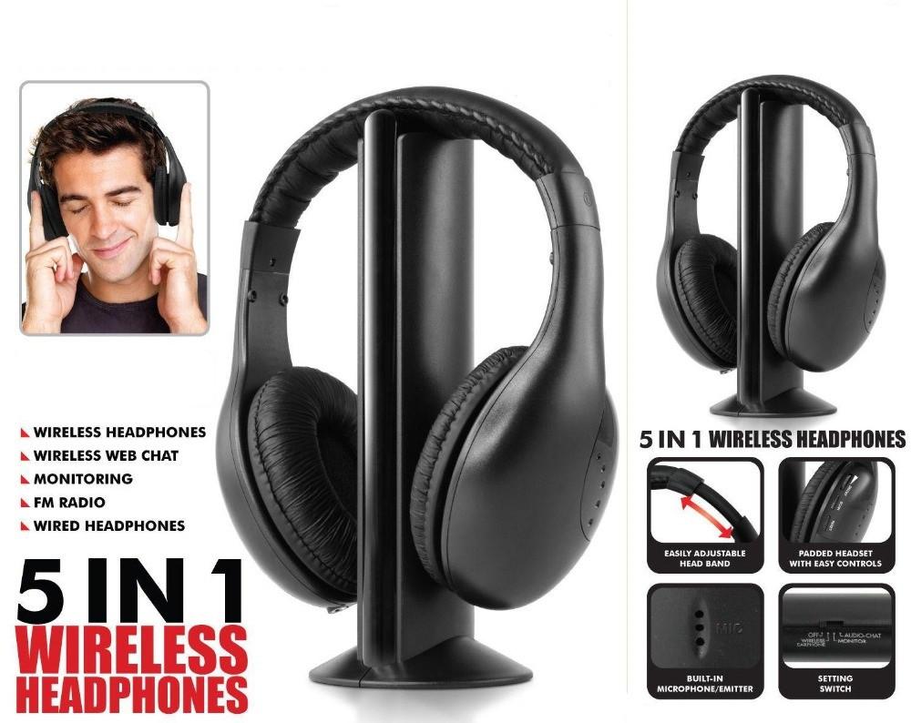 Наушники для телевизора 5 в 1 Wireless Headphone
