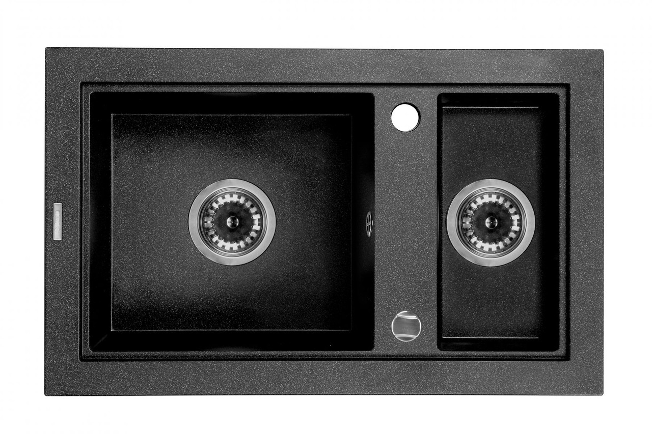 Мойка 1,5-камерная без полки Deante COUNTRY, графитовый гранит, 680х430х180 мм