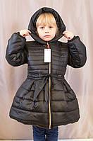Детское теплое красивое пальто на синтепоне для девочки.