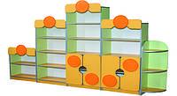 Стенка детская с 5-ти элементов 2700х300х1588+ накладки МДФ