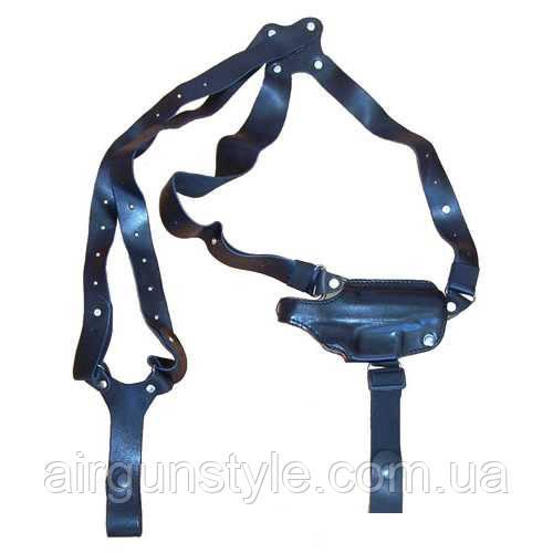 Кобура оперативная кожаная ПГШ Медан 1005 формованная трехслойная с кожаным креплением