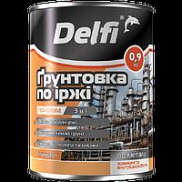 """Грунтовка по ржавчине TM """"Delfi"""" ПФ-010 М серая- 0,9 кг."""