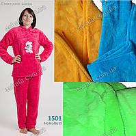 Женская махровая пижама с мишкой 44-50 размер - разный цвета