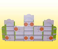Стенка детская с 7-ми элементов 3600х300х1700 мм. + накладки МДФ