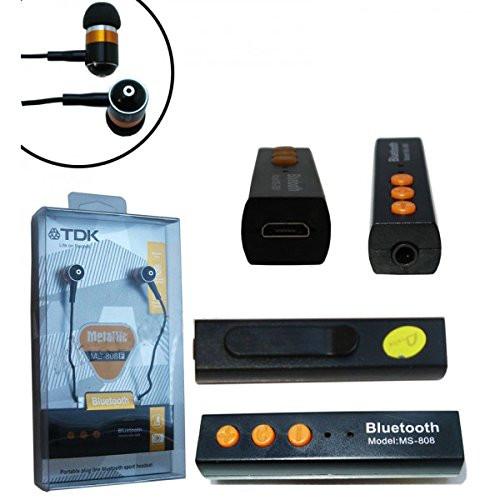 Bluetooth stereo гарнитура вакуум metallic MS-808E
