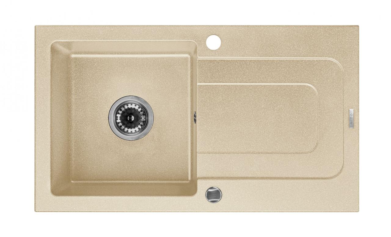 Мийка 1-камерна з полицею Deante FUNK, пісочний граніт, 760х440х160 мм