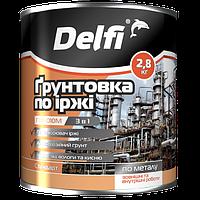 """Грунтовка по ржавчине TM """"Delfi"""" ПФ-010 М серая- 2,8 кг."""