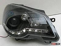 VW Polo 9N оптика передняя черная LED