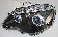 VW Polo Mk4 9N оптика передняя черная