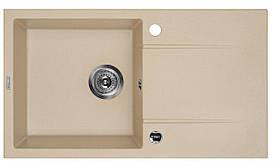 Мийка 1-камерна з полицею Deante PIVA, пісочний граніт, 780х440х180 мм