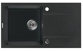 Мийка 1-камерна з полицею Deante PIVA, графітовий граніт, 780х440х180 мм