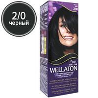 Wellaton Краска для волос №02/0 Черный (крем-краска, стойкий насыщенный цвет)