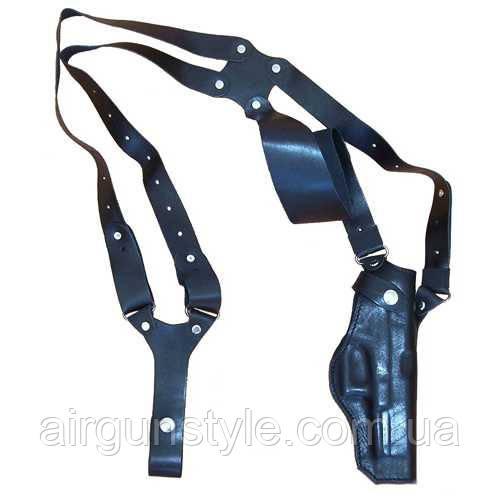 Кобура оперативная кожаная Глок 17 Медан 1005 формованная трехслойная с кожаным креплением