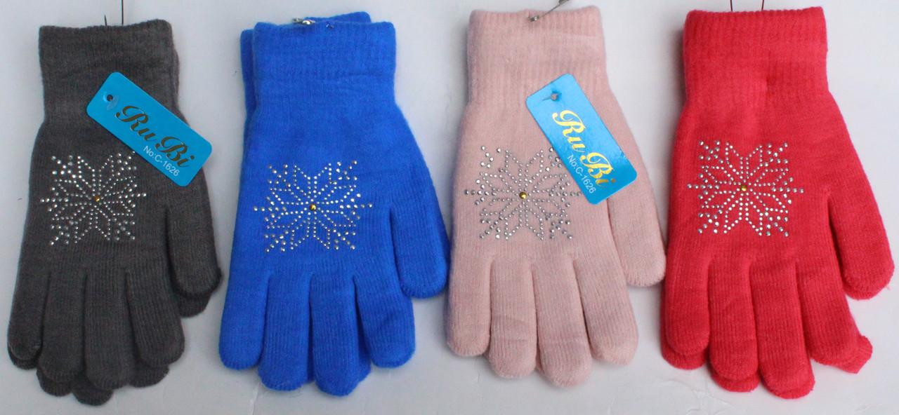 Перчатки женские двойные норма 7-8 (12 пар)
