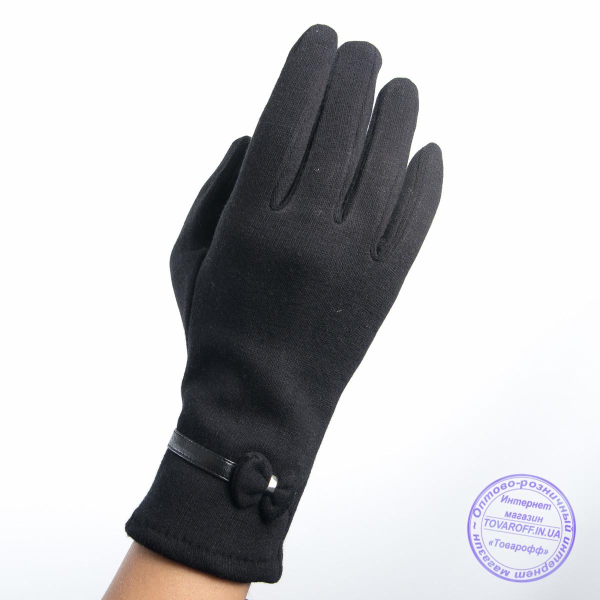 Оптом женские трикотажные перчатки с плюшевым утеплителем - F30-8