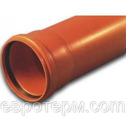 Труба ПВХ для наружной канализации Ф110*2.7 1000 мм SN2 Мпласт