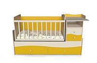 Кроватка-трансформер 4 в 1 (люлька+кровать+стол+комод) Волна от 0 до 15 лет