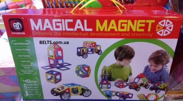 Магнитный конструктор Magical Magnet 40 деталей (Меджикал Магнет)