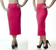 Удлиненная женская юбка карандаш из французского трикотажа, фото 1