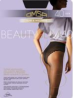 Колготки утягивающие с кружевными трусиками Omsa Beauty Slim 40 den