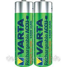 Аккумулятор VARTA RECHARGEABLE AA 2400 mAh Ready2Use цена за пару