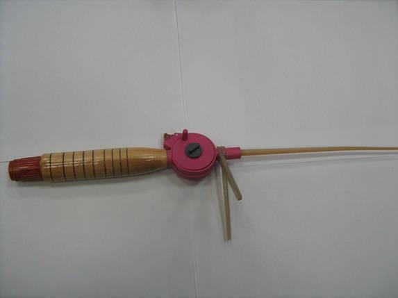 Удочка зимняя *Клева*деревянная ручка, фото 2