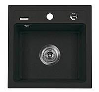 Мойка 1-камерная без полки Deante ZORBA, графитовый гранит, 440х440х170 мм