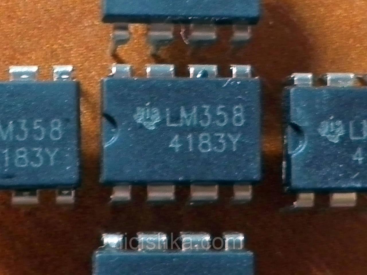 LM358 DIP8 - двойной операционный усилитель
