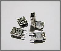 Гнездо USB mini, 5pin, DIP.