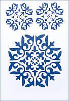 "Трафарет для нанесения рисунка на торт 22*31см. №3 ""Орнамент снежинка"" (код 02429)"