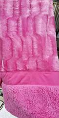 Покрывало на кровать меховое Норка 200х230 цвет розовый