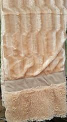 Покрывало на кровать меховое Норка 200х230 цвет персиковый