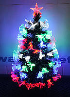 """Светящаяся оптоволоконная елка со снегом на кончиках """"Снежинка"""" 90 см. 7 режимов sv90"""