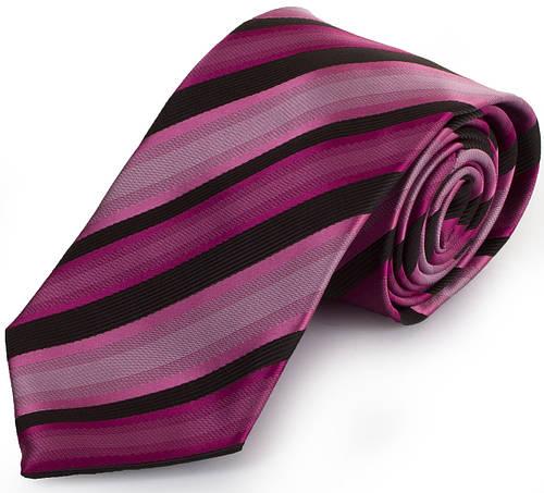 Стильный мужской широкий галстук SCHONAU & HOUCKEN (ШЕНАУ & ХОЙКЕН) FAREPS-73 фиолетовый